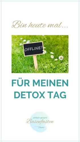 WhatsApp Status Spruch für deinen Detox Tag