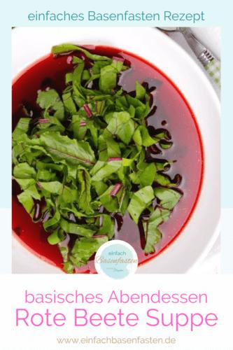 Basische Kochen Rote Beete Suppe mit Ingwer